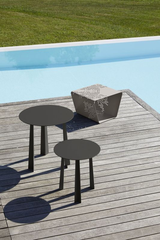 Table basse Tao et pouf magazine Pattern