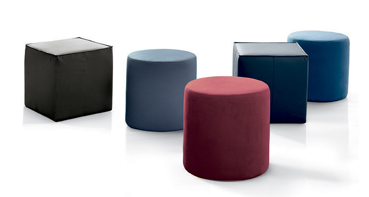 Badu and Uchi poufs Bontempi Casa